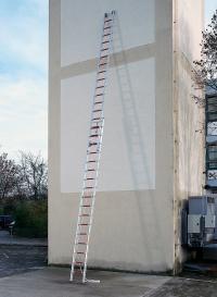 Escalera de aluminio de 2 partes con cuerda